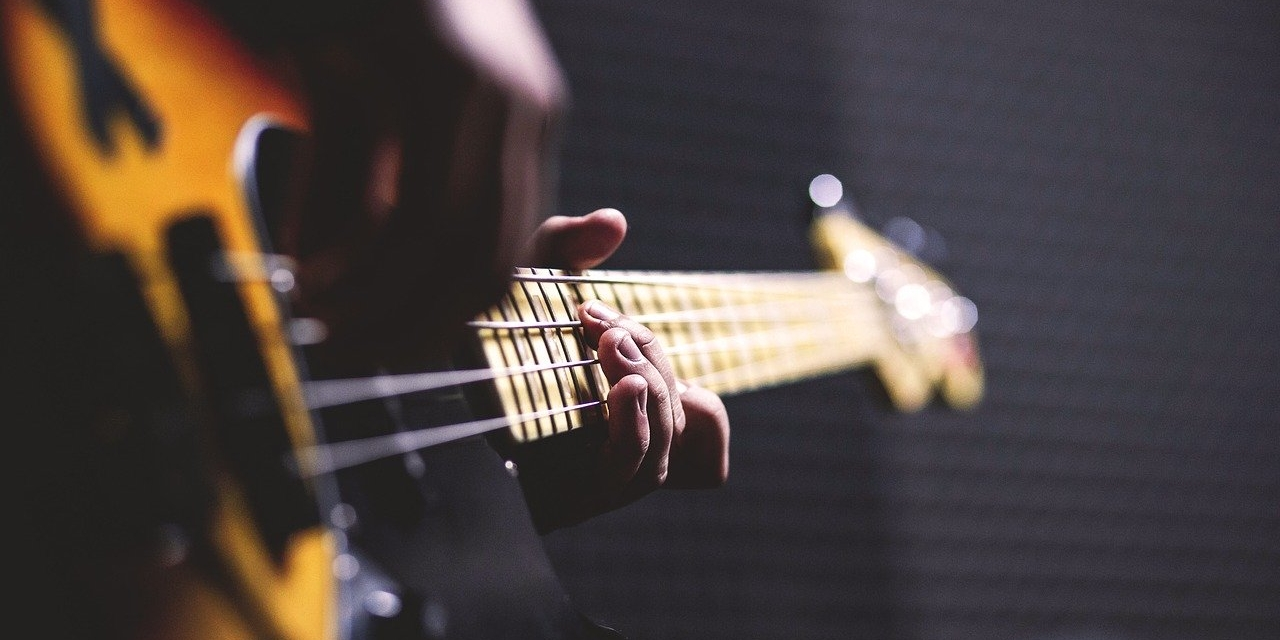 E-Bass Großaufnahme