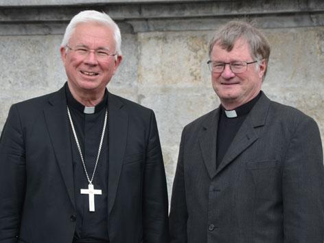 Der Erzbischof von Salzburg und neue Vorsitzende der Österreichischen Bischofskonferenz, Franz Lackner und sein Stellvertreter, Bischof Manfred Scheuer