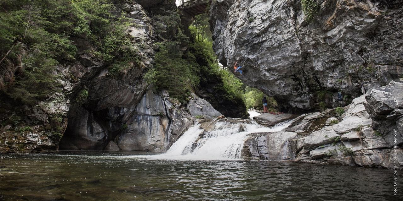Kletterer im Maltatal in Kärnten