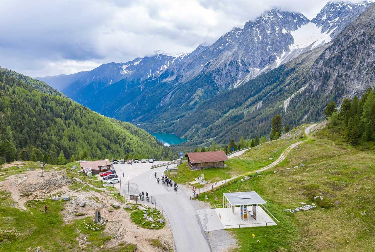 Situation am österreichisch/Italienischen Grenzübergang am Staller Sattel