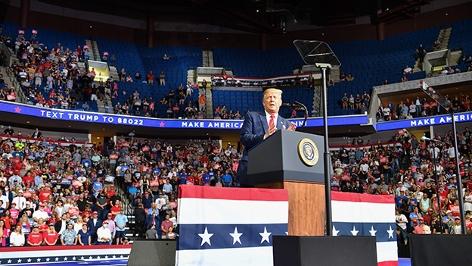 Donald Trump Wahlkampfauftakt