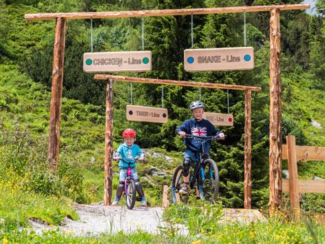Bikepark bieten auch viele Möglichkeiten für Kids