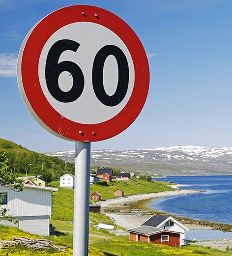 Speed Tempo Geschwindigkeit 60 Norwegen