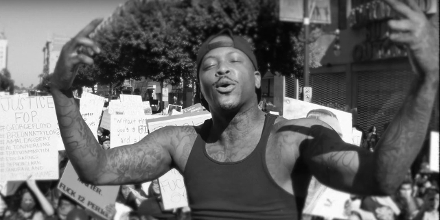 YG in der Black Lives Matter Demo in Hollywood