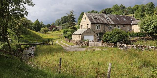 Einzelnes Haus im ländlichen Yorkshire, England