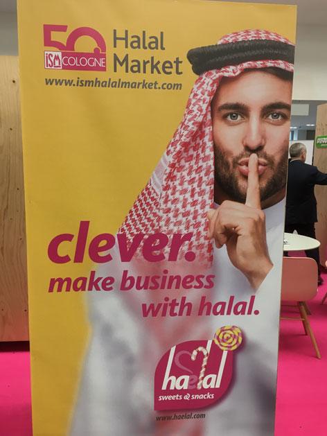 Ein Plakat für Halal-Business