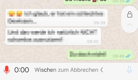 Whatsapp-Sprachnachricht