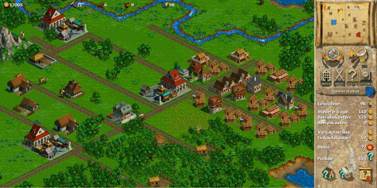 Die Anfangsphase der Stadt in Anno 1602