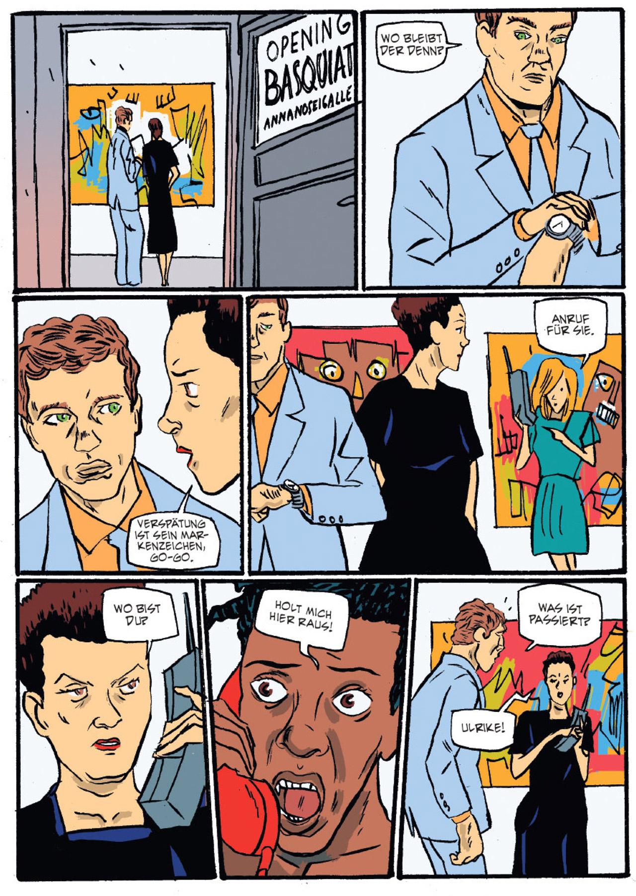 """Bilder aus der Graphic Novel """"Basquiat"""""""