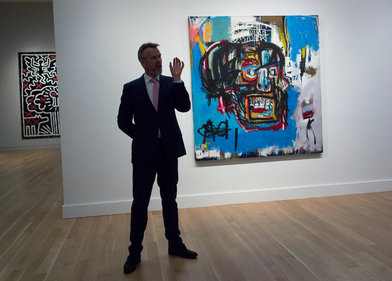 Ein Bild von Basquiat bei einer Auktion