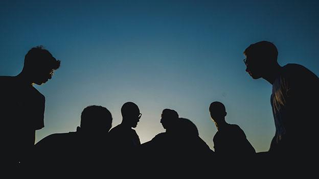 Gruppe, Menschen, Schatten