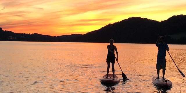 Stand Up Paddle Tour am Fuschlsee