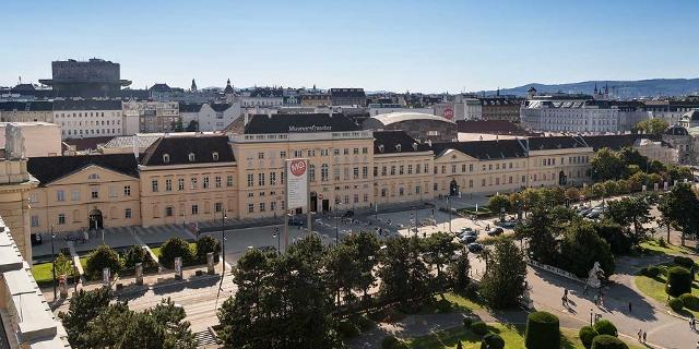 Luftaufnahme vom Museumsquartier in Wien