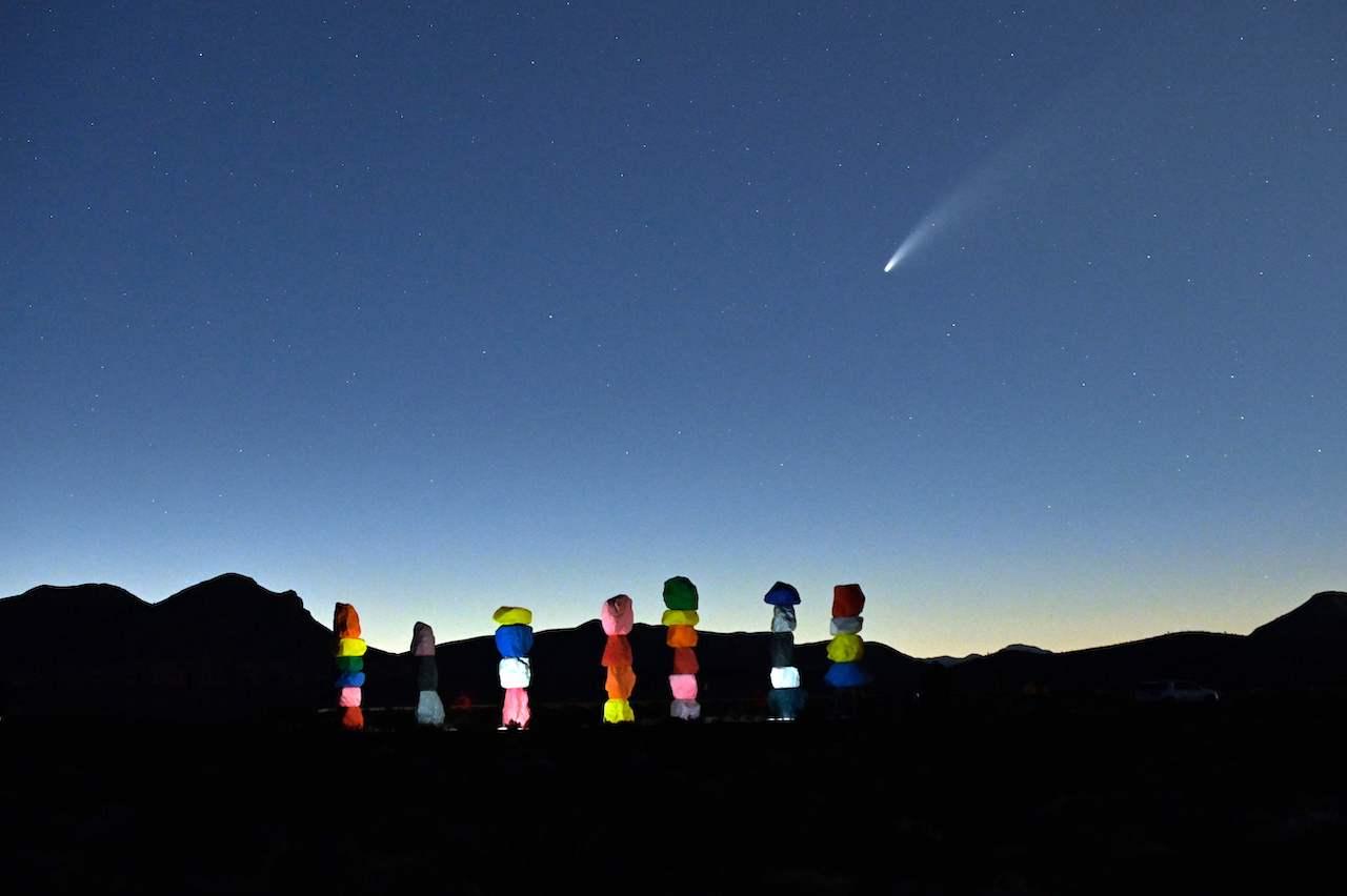"Komet ""Neowise"" im Juli 2020 in Jean, Nevada"