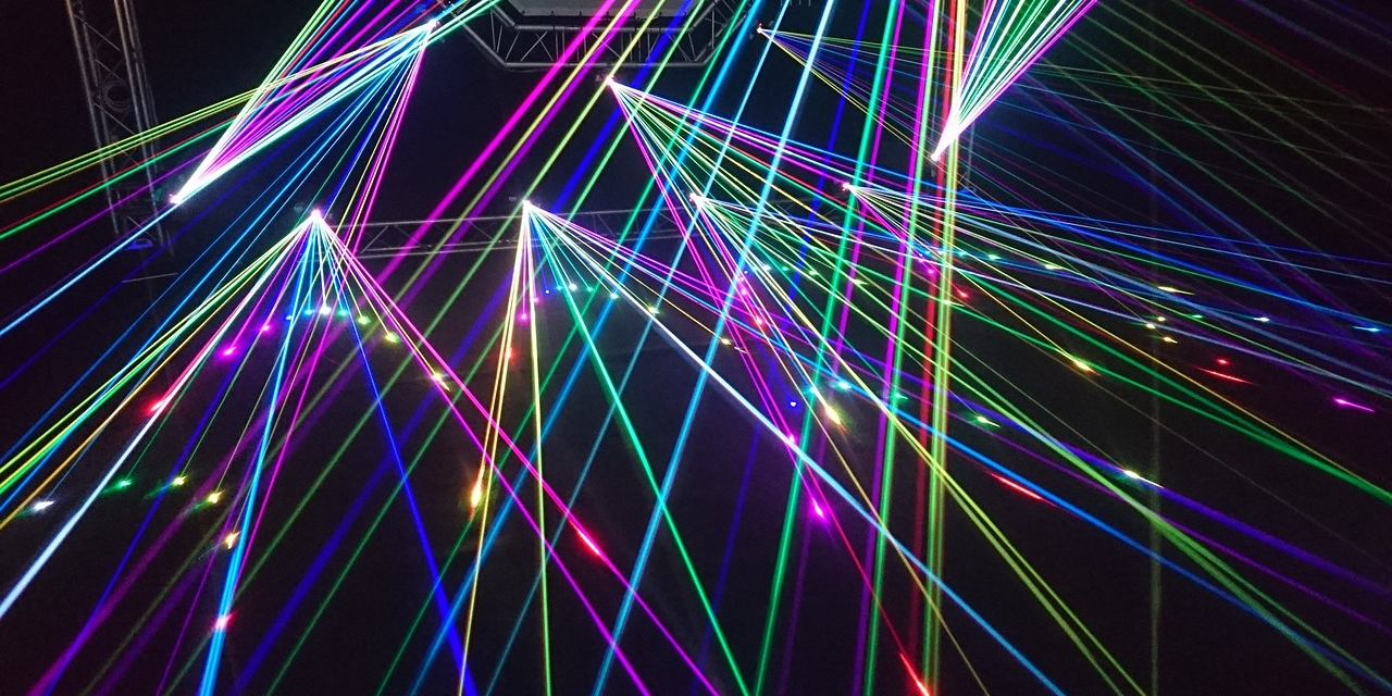 Lasershow bei Konzert