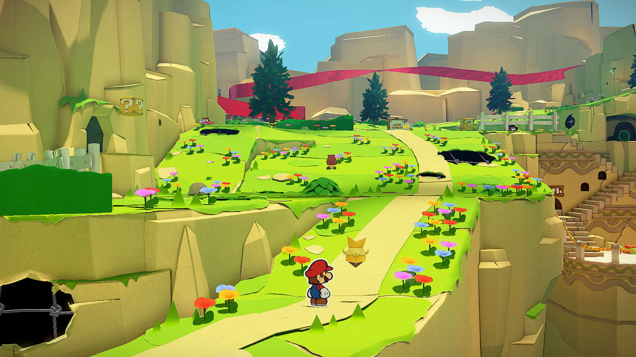 "Screenshot aus dem Videospiel ""Paper Mario: The Origami King"""