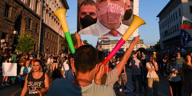 Protestzug in Sofia
