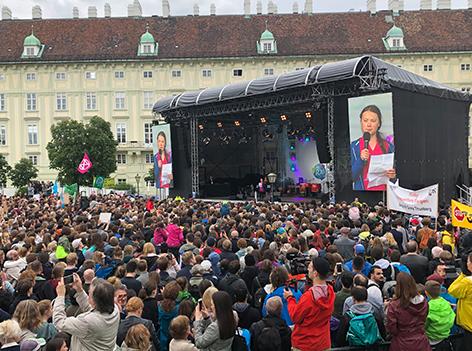 Greta Thunberg am Klima-Kirtag