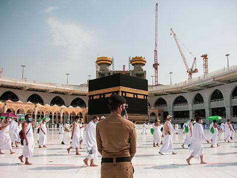 Kaaba in Mekka, Saudi-Arabien, Hadsch 2020