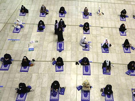 Hadsch 2020, Gebet in der Großen Moschee in Mekka
