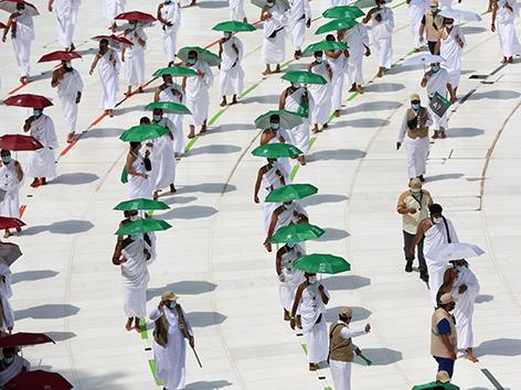 Hadsch 2020, Umrundung der Kaaba