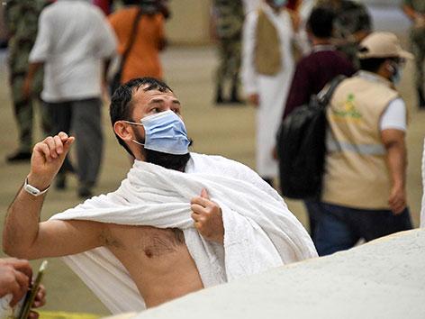 """Steinigung des Teufels"" in Mina nahe Mekka, Saudi-Arabien, Hadsch 2020"