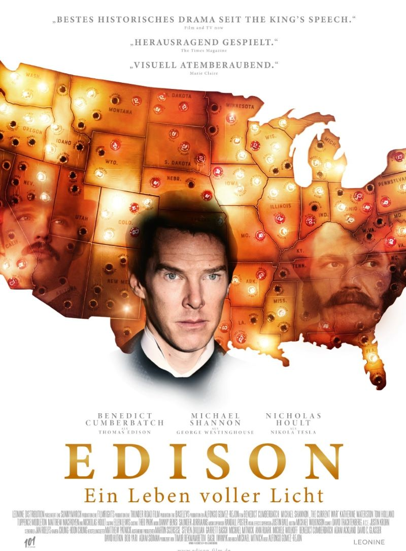 """Plakat von """"Edison - Ein Leben voller Licht"""""""