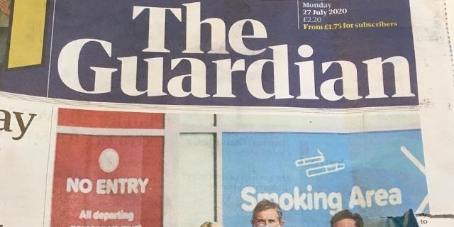 Titelseite des Guardian