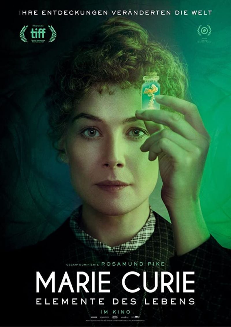 "Plakat zu ""Marie Curie - Elemente des Lebens"""