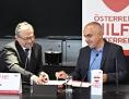 Alexander Wrabetz (ORF-Generaldirektor.), Bernd Wachter (Caritas-Generalsekretär) anlässlich des Startes der Initiative - Österreich hilft Österreich