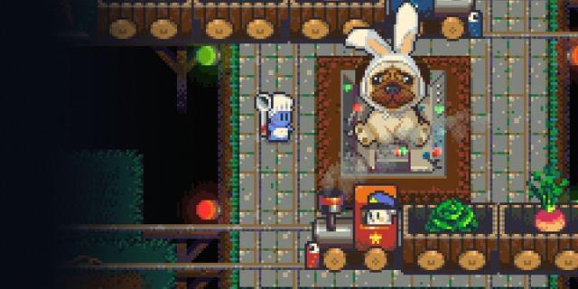 """Bildschirmfoto aus dem Computerspiel """"Radical Rabbit Stew"""""""