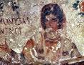 Märtyrerin Dionysia in Orantenhaltung, Cubiculum der Fünf Heiligen, 3. Jh., Calixtus-Katakombe in Rom