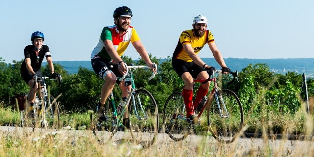Riders having fun