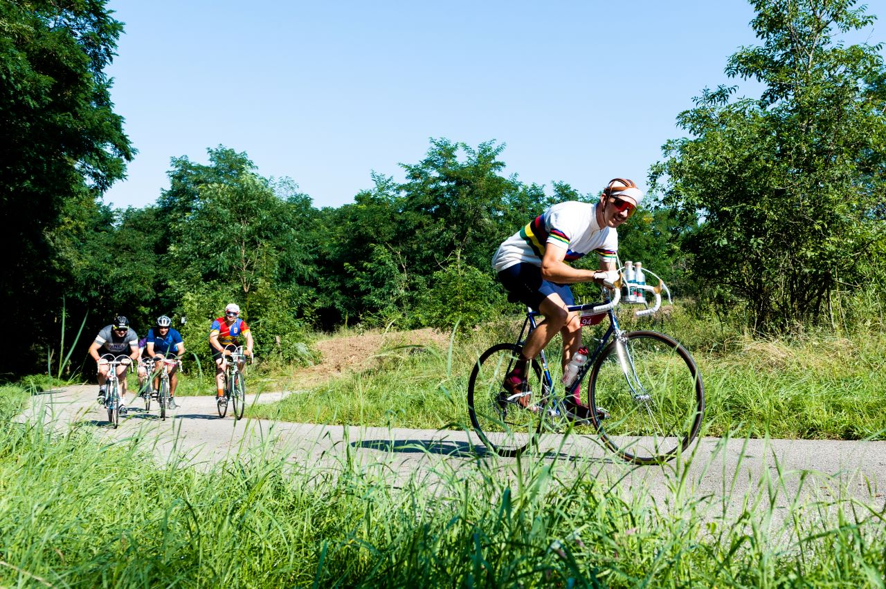Riders on Vintage bikes