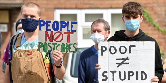 Schüler demonstrieren in Großbritannien