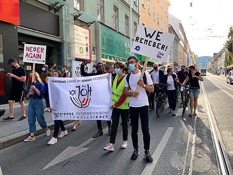 Solidaritätskundgebung in Graz nach Anschlag auf Synagoge