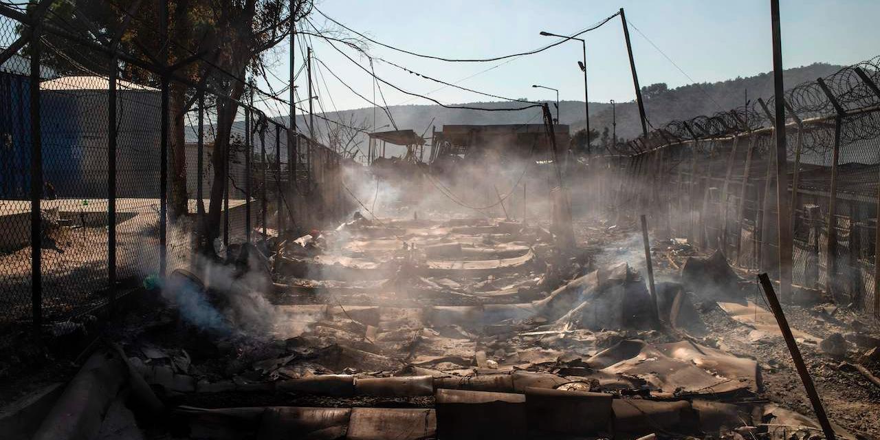 Katastrophale Schäden nach dem Brand im Flüchtlingslager in Moria