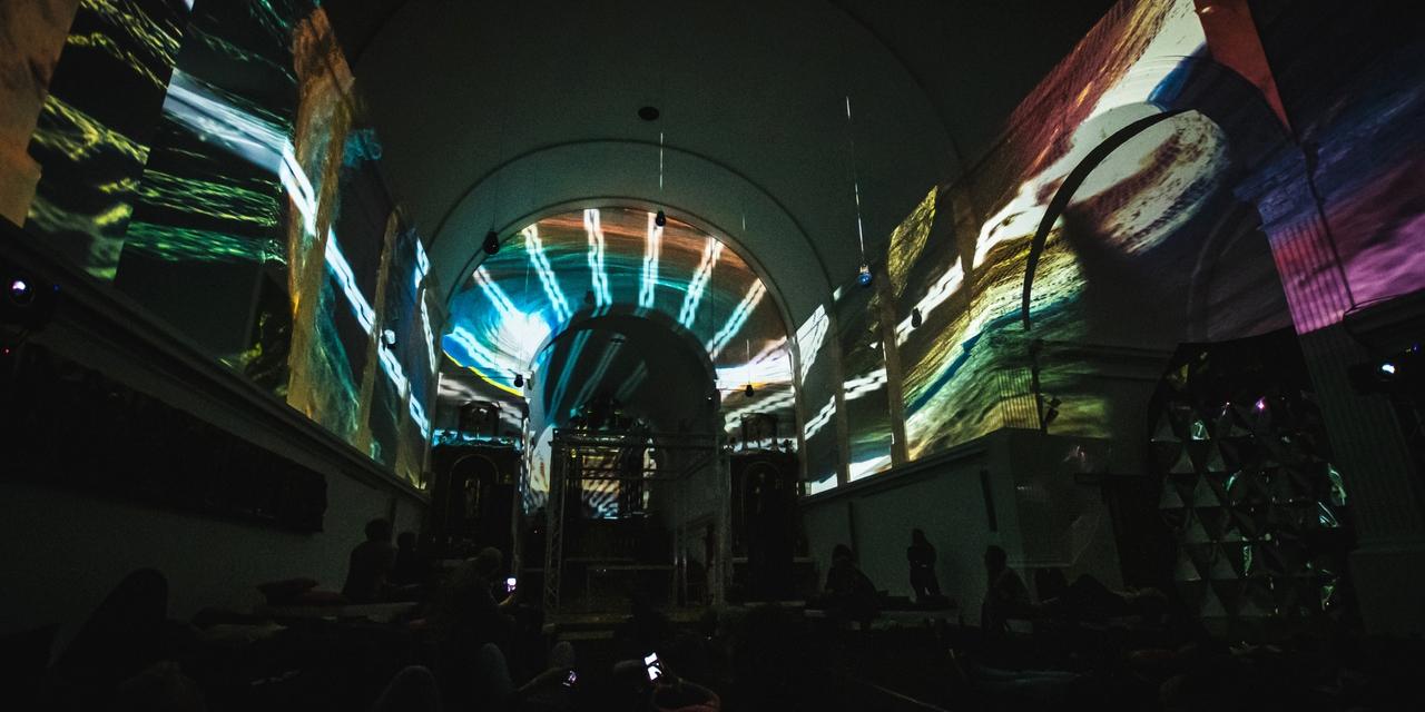 Kirche Projektion