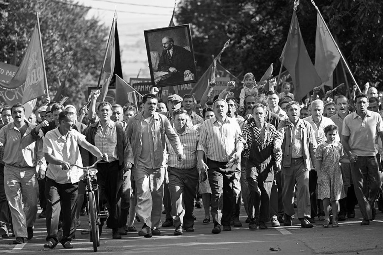 Filmstill: Demonstration in der UdSSR