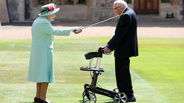 Queen und Tom Moore