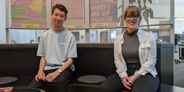 Anna Blume und Pascal Unger, Landesschulsprecher*innen AHS Wien