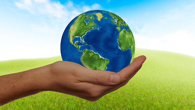 Hand mit Erde
