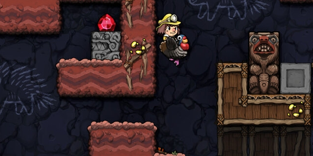 """Bildschirmfotos aus dem Computerspiel """"Spelunky 2"""""""