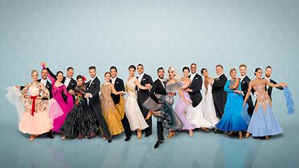 """Die zehn """"Dancing Stars"""" mit den 10 Profis"""