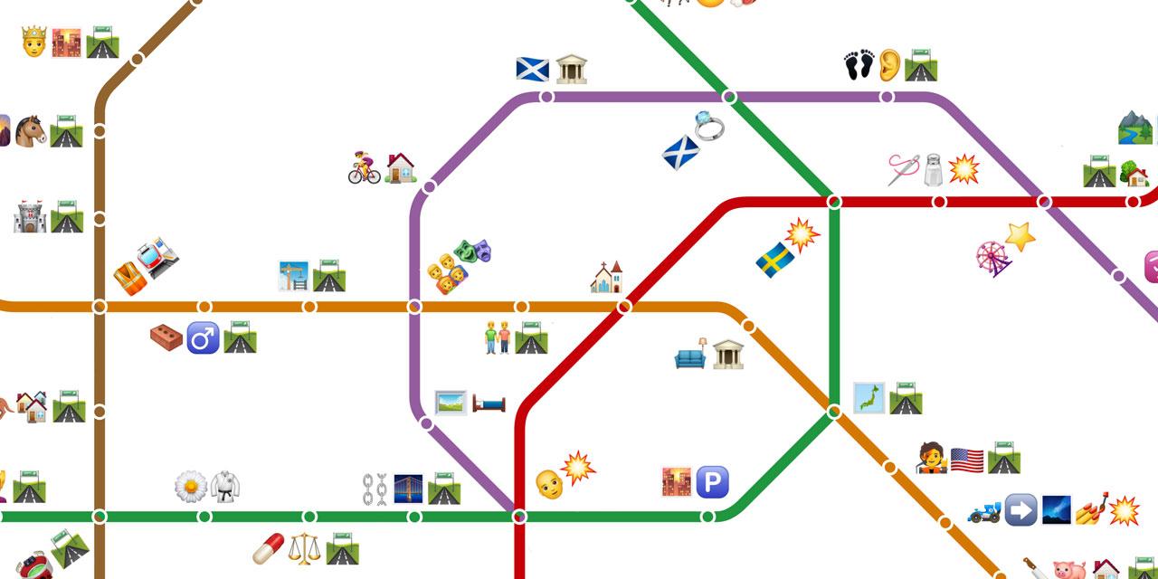 Die Wiener U-Bahn in Emojis