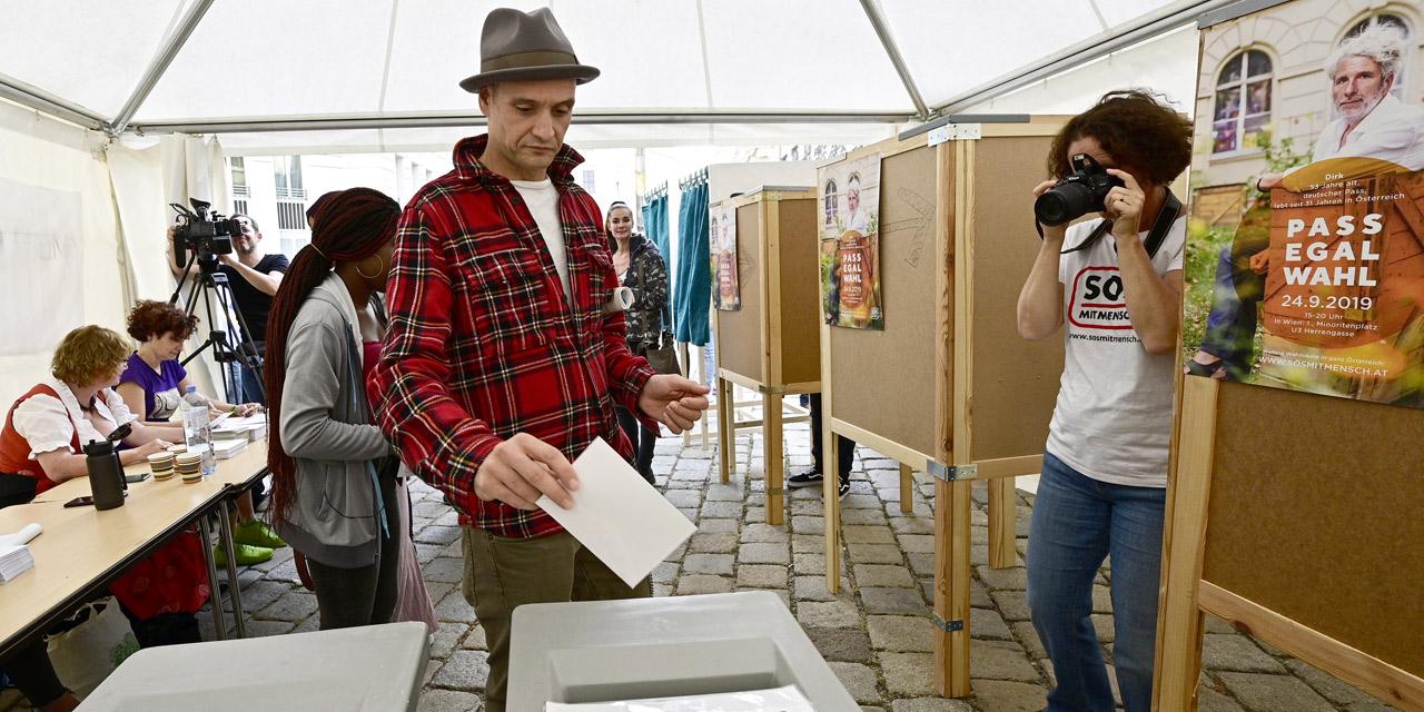 Teilnehmer bei der Pass Egal Wahl