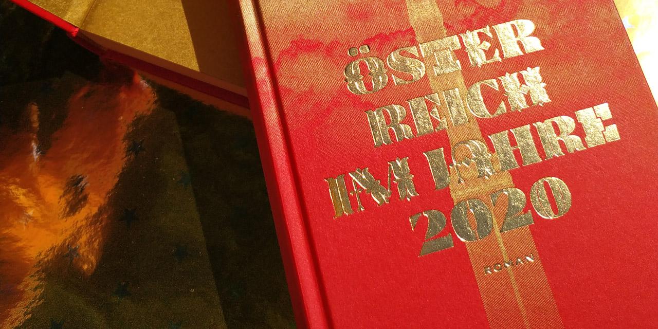 """Buchcover von Josef von Neupauers Roman """"Österreich 2020"""""""