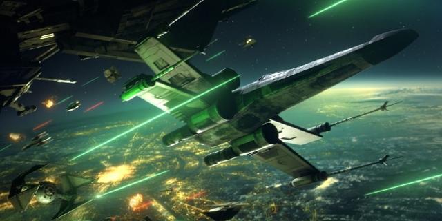 Screenshot: Kämpfende Raumschiffe