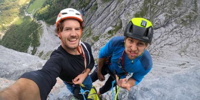 """Selfie von Hannes Hohenwarter und Martin Sieberer in """"Pumprisse"""""""