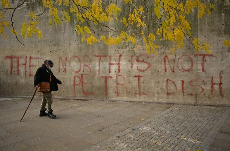"Graffito - ""The north is not a petri dish"""